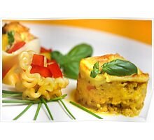Chicken-Curry-Lasagna With Yellow Pepper Cream III Poster