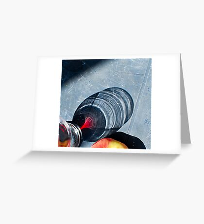 """Shadow of the glass on the table"" Greeting Card"