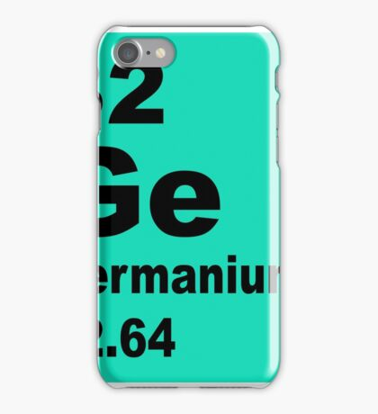Germanium Periodic Table of Elements iPhone Case/Skin