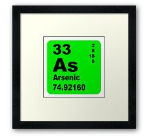 Arsenic Periodic Table of Elements Framed Print