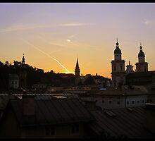 Salzburg in silhouette. (Austria) by kelliejane