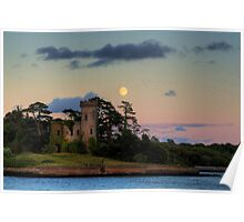 Fota Castle and the Moon Poster
