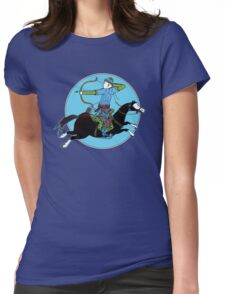 Mongolian Warrior Womens Fitted T-Shirt