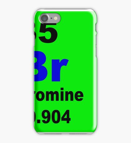 Bromine Periodic Table of Elements iPhone Case/Skin