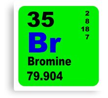 Bromine Periodic Table of Elements Canvas Print