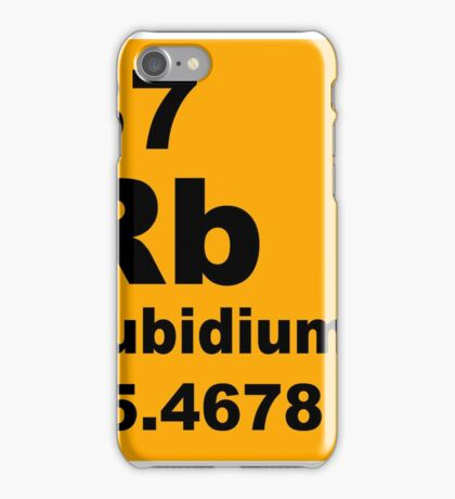 Rubidium Periodic Table of Elements iPhone Case/Skin