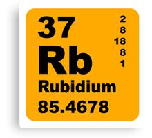 Rubidium Periodic Table of Elements Canvas Print