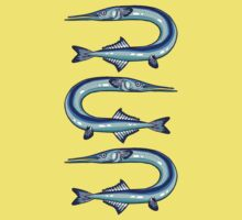Garfish pattern Kids Clothes