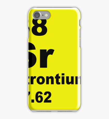 Strontium Periodic Table of Elements iPhone Case/Skin