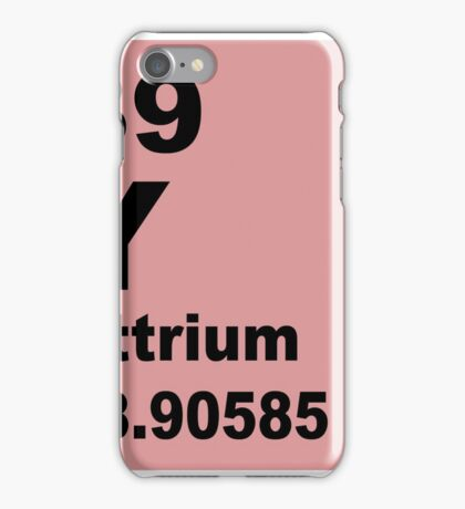 Yttrium Periodic Table of Elements iPhone Case/Skin