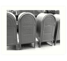 US mail boxes - New York Art Print