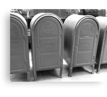 US mail boxes - New York Canvas Print