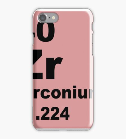 Zirconium Periodic Table of Elements iPhone Case/Skin