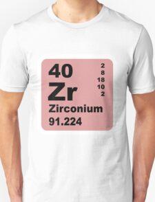 Zirconium Periodic Table of Elements Unisex T-Shirt