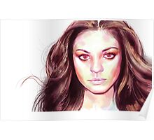 Abstract Mila Kunis Art | 2015 Poster