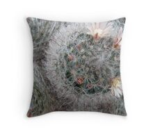Silky Soft Cactus Flowers Throw Pillow