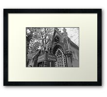 Homes of the Dead Framed Print