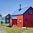Houses on Flatey by Roantrum