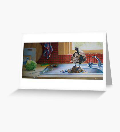 Peeking Duck, oil on canvas, 2006. Greeting Card