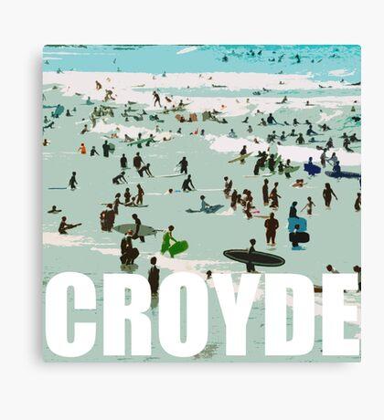 Croyde surfers Canvas Print