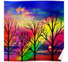 rainbow sunset Poster