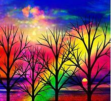 rainbow sunset by haroulita