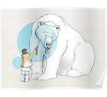 Polar bear and Girl Poster