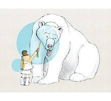 Polar bear and Girl Photographic Print