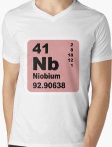 Niobium Periodic Table of Elements Mens V-Neck T-Shirt