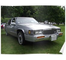Silver Cadillac Seville Car 80's Poster