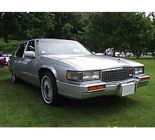 Silver Cadillac Seville Car 80's Photographic Print