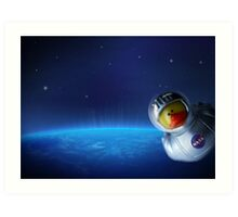 Maurice in space Art Print