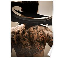 Back Tattoo, Dragon, portrait Poster