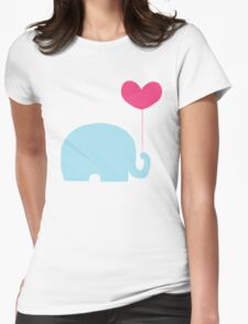 Elephant love Womens Fitted T-Shirt