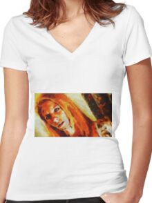 Demoness by Sarah Kirk Women's Fitted V-Neck T-Shirt
