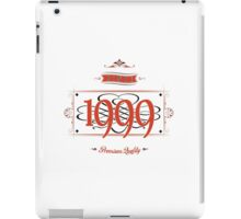 Since 1999 (Red&Black) iPad Case/Skin