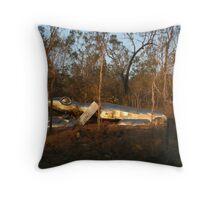 Giant Steel Lizard Throw Pillow