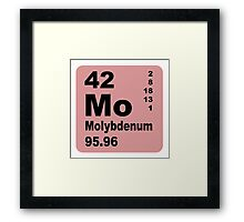 Molybdenum Periodic Table of Elements Framed Print