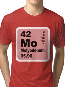 Molybdenum Periodic Table of Elements Tri-blend T-Shirt