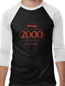 Since 2000 (Red&Black) Men's Baseball ¾ T-Shirt