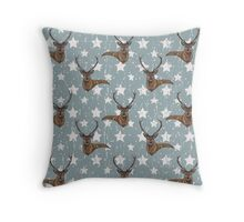 stag scarf Throw Pillow