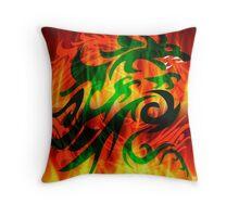 DRAGON RAMPANT Throw Pillow