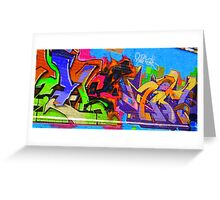 Spontaneous Graffiti Greeting Card