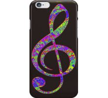 Psychedelic Music note 3 iPhone Case/Skin
