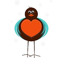 Robby the Robin Photographic Print