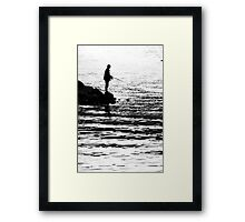 Hoping for a catch Framed Print