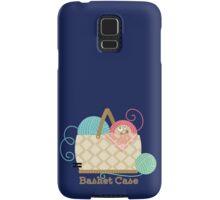 Funny knitting crochet yarn basket case Samsung Galaxy Case/Skin