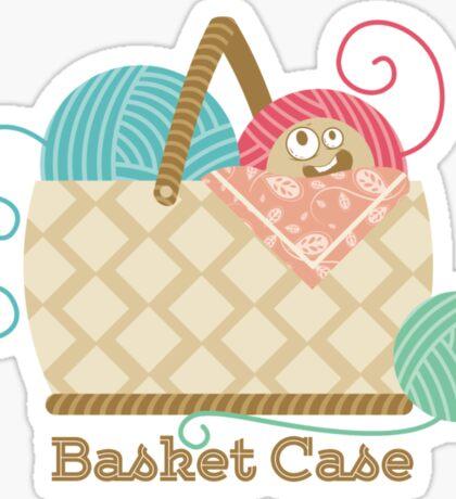 Funny knitting crochet yarn basket case Sticker