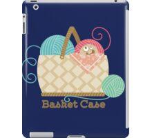 Funny knitting crochet yarn basket case iPad Case/Skin