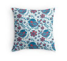 The Blue Bird Print Throw Pillow